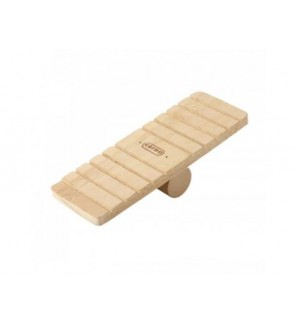 Carno Wooden Seesaw 19cmL X 7cmW X 5cmH (Hamster Accessories)
