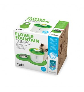 Catit Flower Fountain and Peanut Placemat Combo