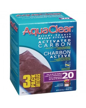 AquaClear 20 Activated Carbon Filter Insert - 135g (4.8 oz) - 3 pack