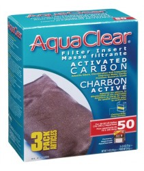 AquaClear 50 Activated Carbon Filter Insert - 210 g (7.4 oz) - 3 pack