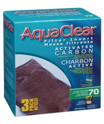 AquaClear 70 Activated Carbon Filter Insert - 420g - 3 pack