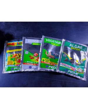 Prodac Fish Food 4g (Algae Wafer, Vegetable Tablet, Small  Biogran, Colour)
