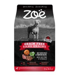 Zoë Dog Grain Free, Beef with Peas & Pumpkin Recipe - 2 kg (Dog Food) (EXP 11/2020)