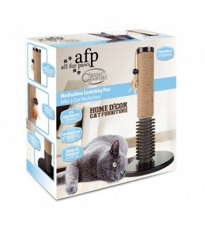 CLEAR STOCK!! AFP Mochachino Scratching Post with Rubber Bristles (Cat Toy)