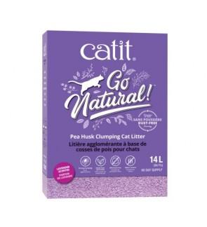 Catit Go Natural Pea Husk Clumping Lavender 2x7L