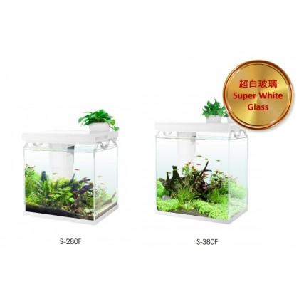 Sobo Multi Functional Ecological Ultra-White Crystal Clear Aquarium Tank (S-280F, S-380F)